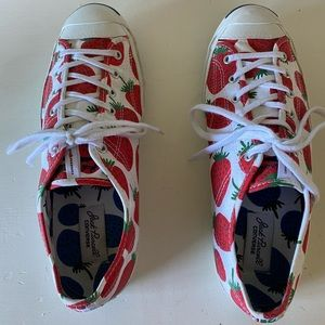 Converse Jack Purcell Strawberry Print Shoes